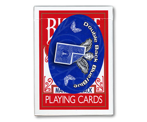 Cards - Double Back 809 Mandolin Back (Blue/Blue) - USPCC