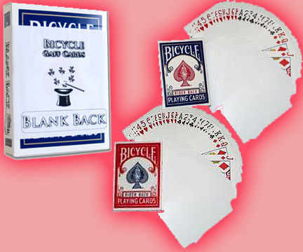 Cards - Blank Back Bicycle Cards - USPCC