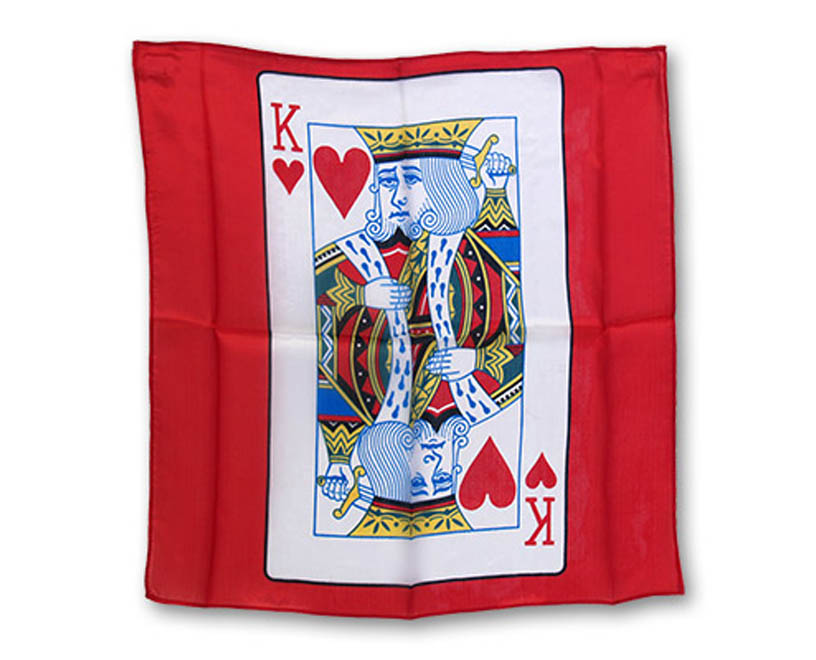 "18"" King of Hearts Card Silk - Magic by Gosh"