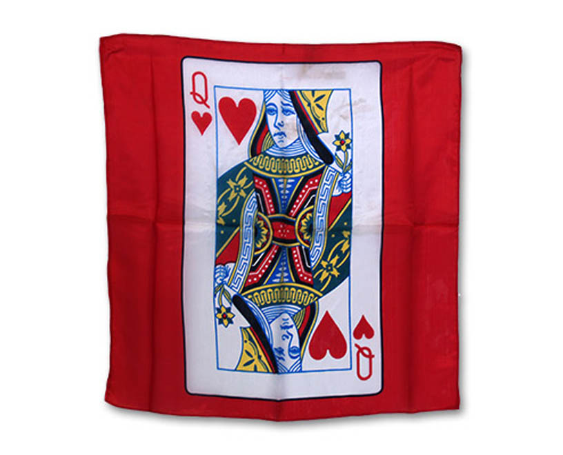 "18"" Queen of Hearts Card Silk - Magic by Gosh"