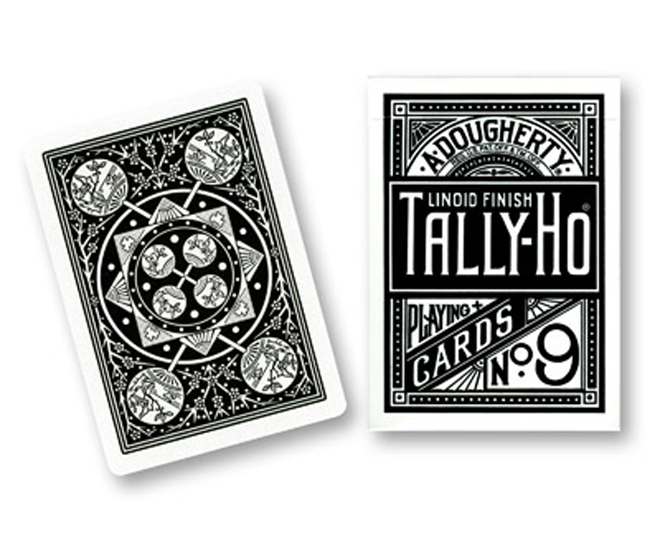Cards - Tally Ho Fan Back (Black) -USPCC