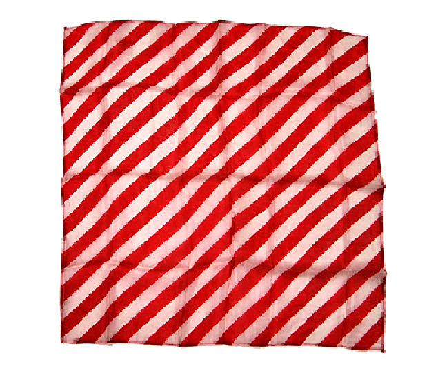 "18"" Zebra Silk ( Red & White ) - Uday"
